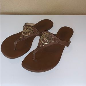 Michael Kors MK Brown Sandal Size 8